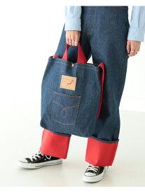 BEAMS BOY orSlow × BEAMS BOY / 別注 RED LINING 1POCKET TOTE BAG ビームス ウイメン バッグ バッグその他 ブルー【送料無料】