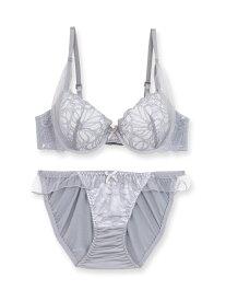 fran de lingerie Emily216 エミリー ブラ&ショーツセット B65-F75カップ フランデランジェリー インナー/ナイトウェア ブラ/ショーツ グレー グリーン