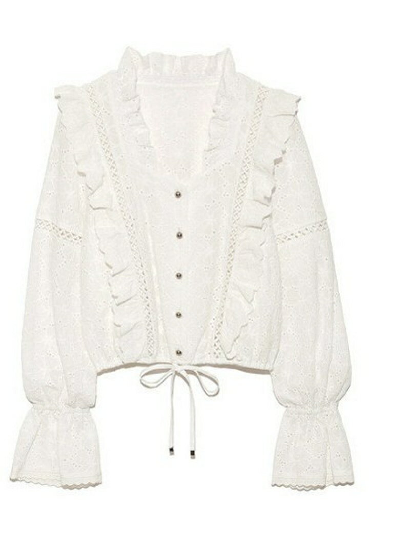 Lily Brown cotton刺繍ブラウス リリーブラウン シャツ/ブラウス【先行予約】*【送料無料】