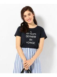 L'aube コットンモダールジャージーロゴ Tシャツ