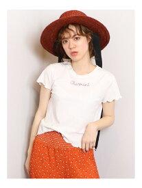 【SALE/48%OFF】dazzlin charmantチビTシャツ ダズリン カットソー カットソーその他 ホワイト ピンク ブルー ベージュ