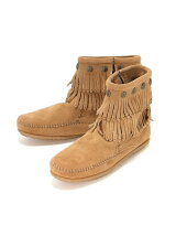 MINNETONKA/(L)DOUBLE FRINGE SIDE ZIP BOOT 697T