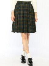 BROWNY/(L)BOXプリーツチェックフレアスカート