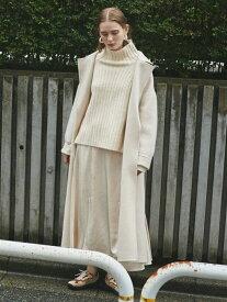 【SALE/40%OFF】emmi 【emmi atelier】リブニットサテンスカートset エミ カットソー カットソーその他 ホワイト ブラウン【送料無料】