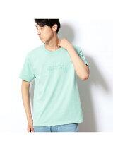 エンボスロゴプリントクルーネックTシャツ