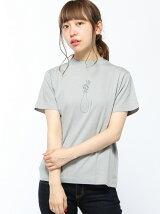 L&HARMONY/(W)ハイクルーネックプリントTシャツK