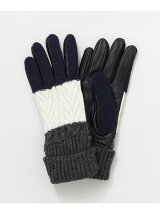 Knit/Leather Gloves