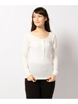 COTTON RIB HENRY NECK T