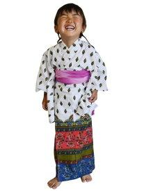 チャイハネ バグルキッズ浴衣110cm チャイハネ ビジネス/フォーマル【送料無料】