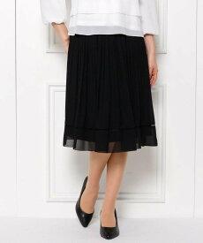 SHOO・LA・RUE 【フリーサイズ/洗濯機可】ランダムプリーツスカート シューラルー スカート スカートその他 ブラック ネイビー【送料無料】