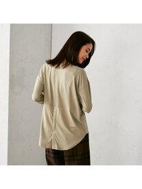 COMME CA ISM 〈バックスリット〉長袖 ロングTシャツ コムサイズム カットソー Tシャツ ベージュ ホワイト ブラック