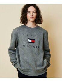 【SALE/40%OFF】TOMMY HILFIGER (M)TOMMY HILFIGER(トミーヒルフィガー) ロゴスウェット トミーヒルフィガー カットソー スウェット グレー ブラック ホワイト【送料無料】