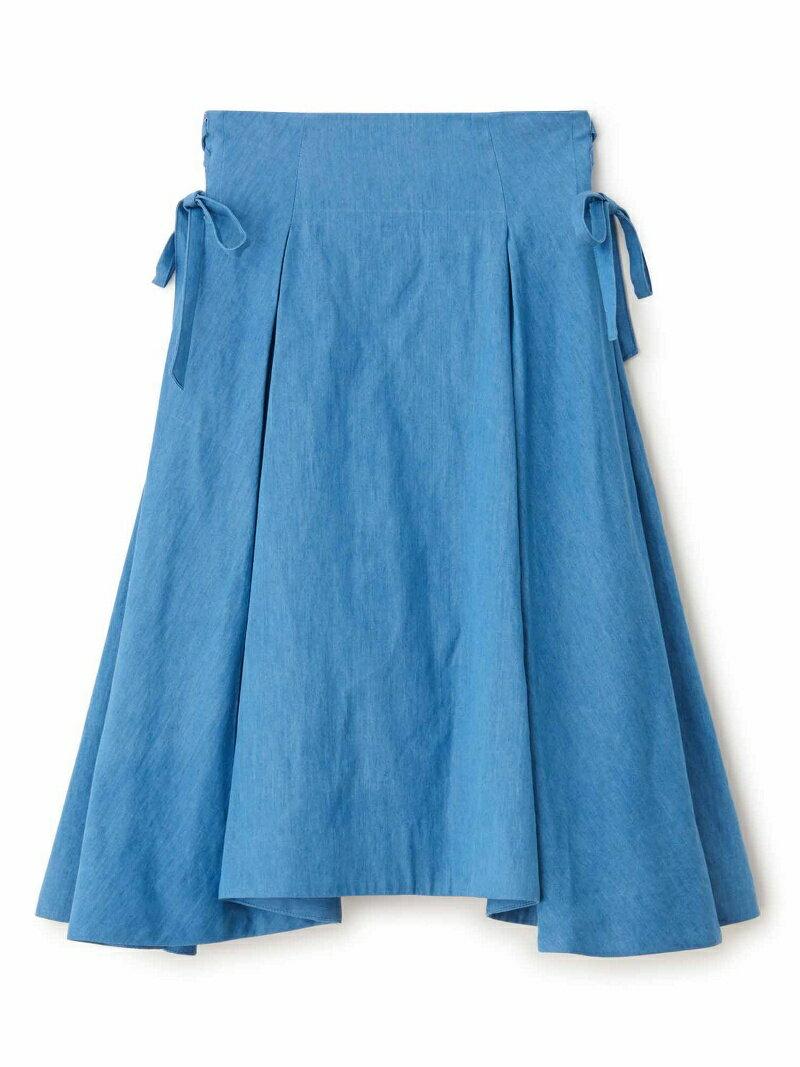 【SALE/50%OFF】Supreme.La.La. イレヘムサイドリボンスカート シュープリーム・ララ スカート【RBA_S】【RBA_E】【送料無料】