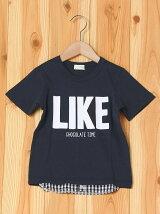 シャツレイヤード風ロゴ入りTシャツ/キッズ/夏