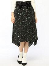 Dukkah/(L)ベルト付フラワードットスカート