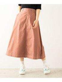 WEGO WG STANDARD/(L)チノフレアスカート ウィゴー スカート フレアスカート ブラウン カーキ ベージュ