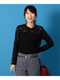 any FAM 【洗える】レーストップス エニィファム カットソー Tシャツ ブラック ホワイト