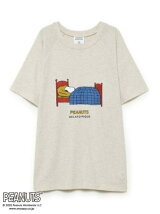 【SNOOPY】【HOMME】コットンワンポイントTシャツ