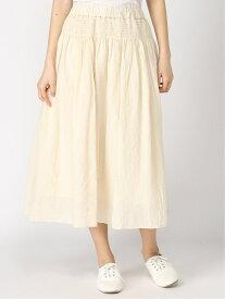 【SALE/50%OFF】Samansa Mos2 シャーリングスカート サマンサモスモス スカート プリーツスカート/ギャザースカート ホワイト ブラック ブルー ブラウン