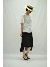 RAW FUDGE/バック裾プリーツデザインスカート