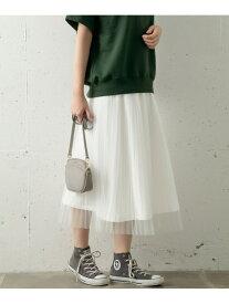 【SALE/60%OFF】Sonny Label 2WAYチュールプリーツスカート サニーレーベル スカート スカートその他 ホワイト ブラック