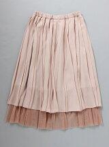プリーツ重ねスカート