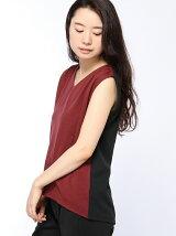 (W)バイカラーノースリーブTシャツ・カットソー(日本限定)