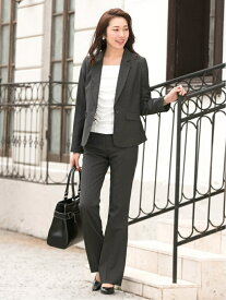 AddRouge 1つ釦パンツスーツ アッドルージュ ビジネス/フォーマル セットアップスーツ グレー ネイビー ブラック【送料無料】