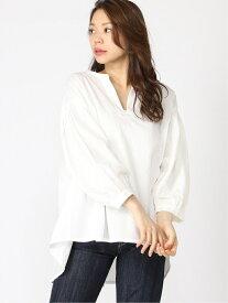 【SALE/50%OFF】Samansa Mos2 スキッパータックシャツ サマンサモスモス シャツ/ブラウス シャツ/ブラウスその他 ホワイト カーキ ベージュ