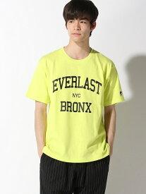 【SALE/30%OFF】EVLS (M)EVLS/LOGO SST ベイフロー カットソー Tシャツ イエロー ホワイト