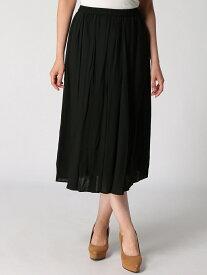 【SALE/61%OFF】ANNA LUNA Rスラブロングスカート アンナルナ スカート ロングスカート ブラック グリーン ブラウン