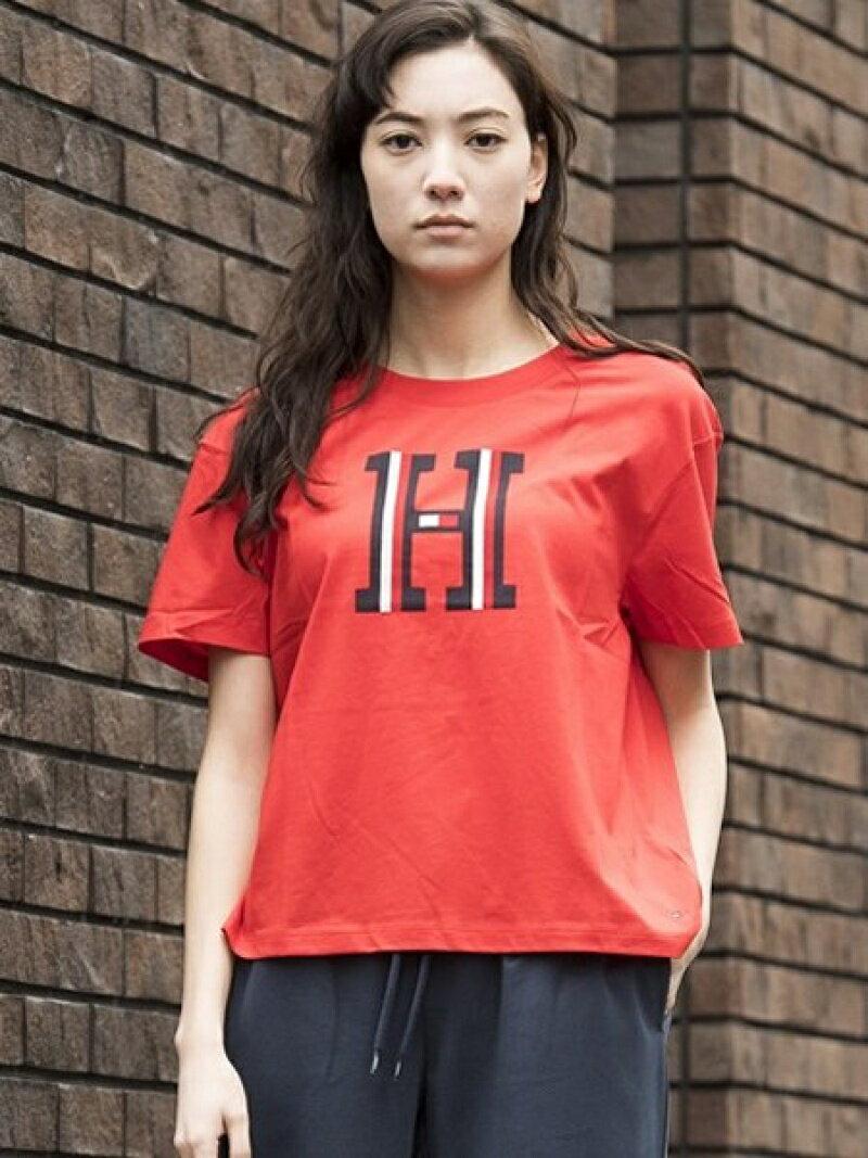【SALE/40%OFF】TOMMY HILFIGER (W)クルーネックロゴTシャツ トミーヒルフィガー カットソー【RBA_S】【RBA_E】【送料無料】