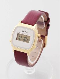 CASIO CASIO/(L)LADY'S DIGITAL/LA670WFL-4JF ブリッジ ファッショングッズ 腕時計 レッド【送料無料】