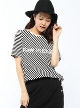 RAWFUDGE/カットボーダーロゴTシャツ
