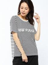 RAW FUDGE/カットボーダーロゴTシャツ