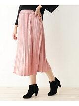 【WEB限定あり】クラッシュベロアプリーツスカート