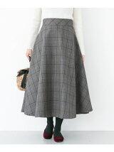 チェックフレアースカート