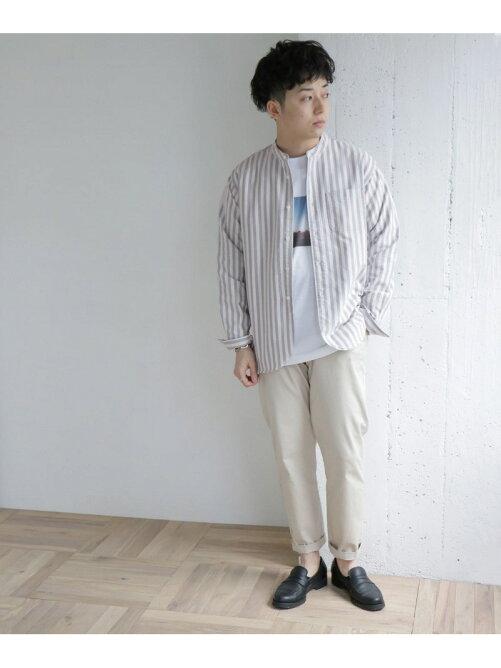 【URBAN RESERACH DOORS】オックスバンドカラーシャツを見る