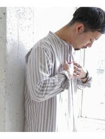 【SALE/50%OFF】DOORS オックスバンドカラーシャツ アーバンリサーチドアーズ シャツ/ブラウス シャツ/ブラウスその他 ホワイト ブルー【送料無料】