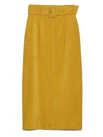 Lily Brown コーデュロタイトスカート リリーブラウン スカート ロングスカート イエロー オレンジ レッド【送料無料】