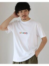 BEAMS MEN BEAMS / ロゴ Tシャツ 20SS ビームス メン カットソー Tシャツ ブラック【送料無料】