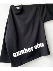 471 NUMBER (N)INE∴ NUMBER(N)INE別注バックプリントスウェットL/S Tee トウキョウデパートメントストア カットソー Tシャツ ブラック ブラウン グレー カーキ ホワイト【送料無料】