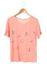 Ray Cassin RAY 花刺繍Tシャツ