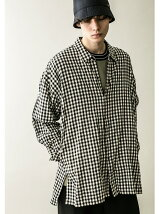 <monkey time> CL GINGHAM CHECK LONG SHIRT/ロングシャツ