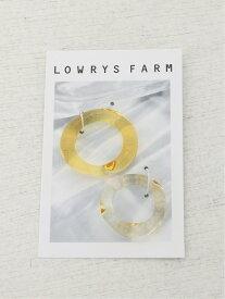 LOWRYS FARM 2ホンセットガラスリング ローリーズファーム アクセサリー リング イエロー ホワイト パープル ブラウン ブルー