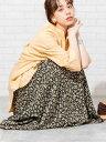 【SALE/50%OFF】coen プリントタックロングスカート# コーエン スカート ロングスカート ホワイト ブラック ベージュ…