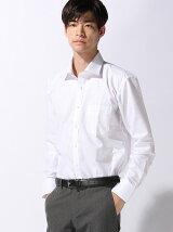 (M)CVC50/50 柄取りストレッチシャツ セミワイド 長袖