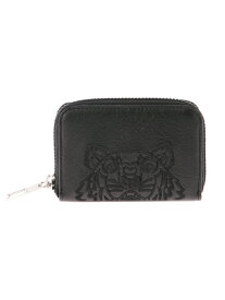 KENZO (M)Kampus Tiger Zip Coin Case Leather ケンゾー 財布/小物 革小物 ブラック【送料無料】