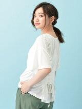 K バックレースアップTシャツ