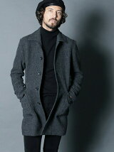 ENGLAND WOOL TWEED SINGLE COAT